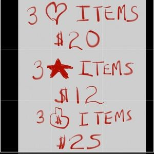 Sale Prices on ❤️⭐️💰 Items